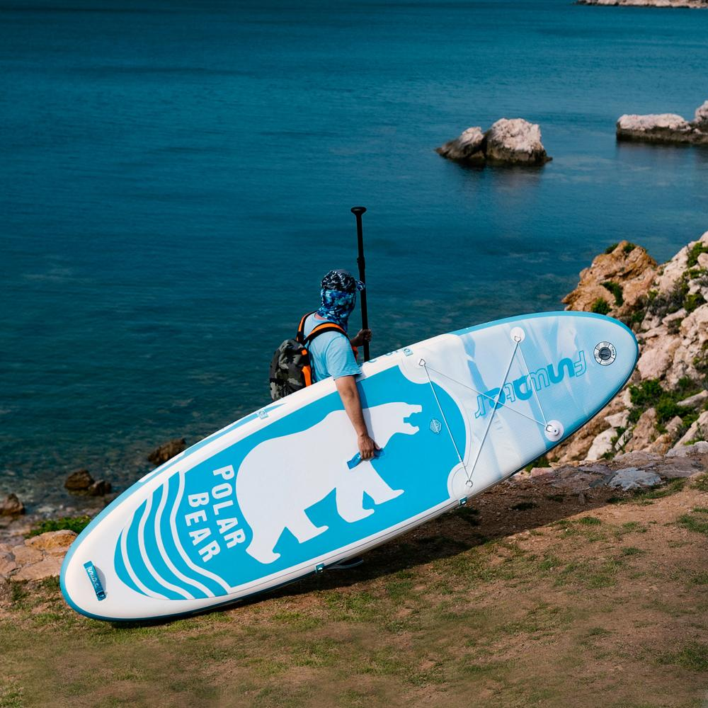 dotshio_polar_bear_paddle_sizes_sup_surf_board_inflatable_cheap_with_all_accessories_construction_sizes_measures_model_accessories_inlcuded_tech_details_sea_river